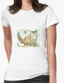 Owl-Cat: Sergei Lefert's drawing Womens Fitted T-Shirt
