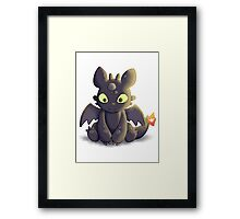 Little Dragon Plush Framed Print