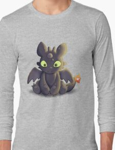 Little Dragon Plush Long Sleeve T-Shirt