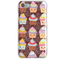 Chocolate cupcakes iPhone Case/Skin