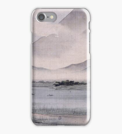 Utagawa Hiroshige - Fuji Marsh, Suruga Province, From Twelve Views Of Mt. Fuji. Mountains landscape iPhone Case/Skin