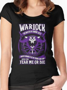 Warlock The Master Of Demonic Arts - Wow Women's Fitted Scoop T-Shirt