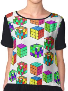 Rubik's Cubes Chiffon Top