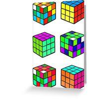 Rubik's Cubes Greeting Card