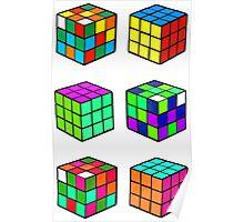 Rubik's Cubes Poster