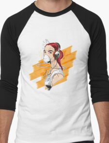 Girl Graffiti Music Men's Baseball ¾ T-Shirt