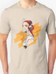 T-shirt Girl Graffiti Music Unisex T-Shirt