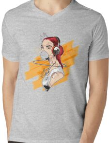 T-shirt Girl Graffiti Music Mens V-Neck T-Shirt