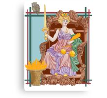 Tarot Justice Canvas Print