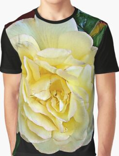 Floral Yellow Blush Rose Graphic T-Shirt