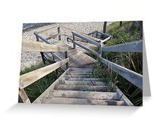 Staircase to the waters edge Greeting Card
