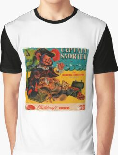 Vinyl Record Cover Captain Snorter Graphic T-Shirt