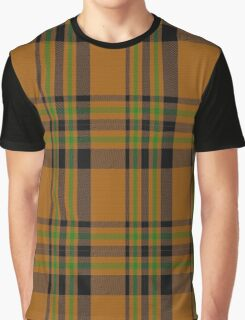 01121 VW Orange Fashion Tartan  Graphic T-Shirt