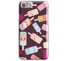 Icecream on brown background iPhone Case/Skin