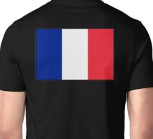FRANCE, FRENCH, French Flag, Flag of France, Tricolour, Storming of the Bastille, Liberté, Égalité, Fraternité, Pure & simple, on black Unisex T-Shirt