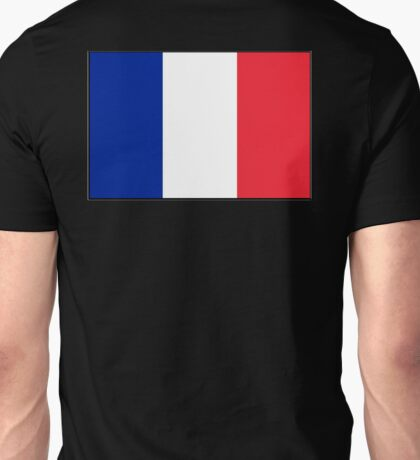 FRANCE, FRENCH, French Flag, Flag of France, Tricolour, Storming of the Bastille, Liberté, Égalité, Fraternité, Pure and simple, on black Unisex T-Shirt