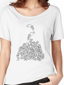Pile of Rabbits Women's Relaxed Fit T-Shirt