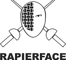 RapierFace Fencing Gear - White Mask by TheAtomicSoul