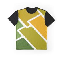 Geometric Abstract Autumnal Design Graphic T-Shirt