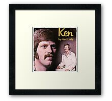 Vinyl Record Cover - Ken Framed Print