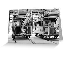 Horse Drawn Trams Greeting Card