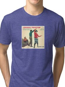 Vinyl Record Cover - Johnny Preston Tri-blend T-Shirt