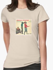 Vinyl Record Cover - Johnny Preston Womens Fitted T-Shirt