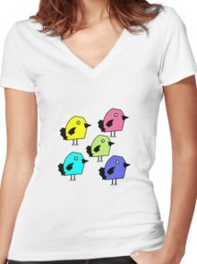 A Flock of birds Women's Fitted V-Neck T-Shirt