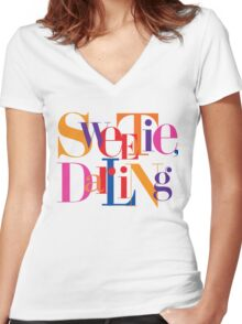 Absolutely Fabulous - Sweetie, Darling Women's Fitted V-Neck T-Shirt