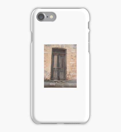 Door of Abandoned Building iPhone Case/Skin