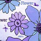 Flower Power Purple Blue by Jenny Davis