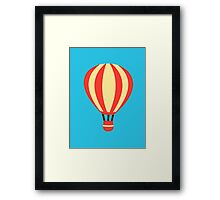 Classic Red and Yellow Hot air Balloon Framed Print