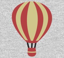 Classic Red and Yellow Hot air Balloon One Piece - Long Sleeve