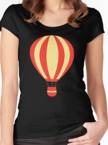 Classic Red and Yellow Hot air Balloon Women's Fitted Scoop T-Shirt