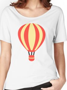 Classic Red and Yellow Hot air Balloon Women's Relaxed Fit T-Shirt