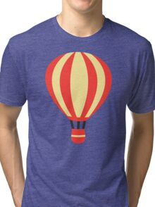 Classic Red and Yellow Hot air Balloon Tri-blend T-Shirt