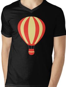 Classic Red and Yellow Hot air Balloon Mens V-Neck T-Shirt