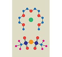 Lithium Tetraglyme TFSI Chemical Structure Photographic Print