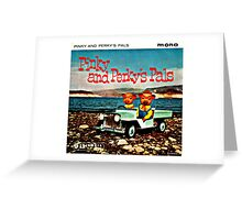 Vinyl Record Cover - Pinky and Perky Greeting Card
