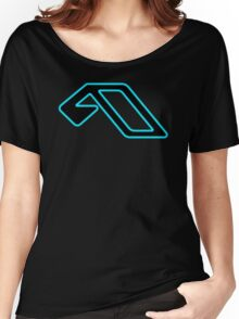 Anjunabeats lightblue black Women's Relaxed Fit T-Shirt
