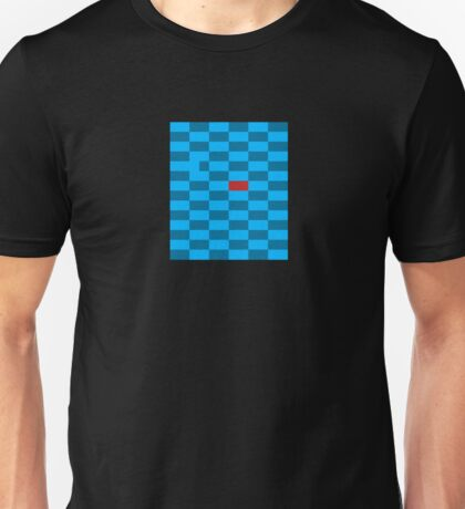 Red Block Next to Blue Gap - Pixel Field Series Unisex T-Shirt