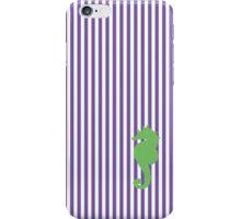 Purple/Green Seahorse Seersucker Nautical Print iPhone Case/Skin