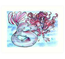 Simple Mermaid Art Print