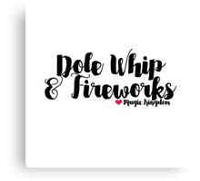 Dole Whip and Fireworks Canvas Print