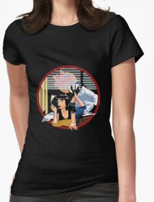 Pulp Fiction - Blue Mia@Jack Rabbits Variant Womens Fitted T-Shirt