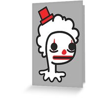 sad clown Greeting Card