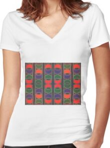 Deco Cats Women's Fitted V-Neck T-Shirt