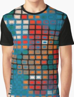 Rectangles pattern Graphic T-Shirt
