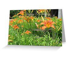 Birthday Card - Tiger Lilies Greeting Card
