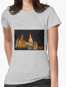 HDR- Old CHURCH Womens Fitted T-Shirt
